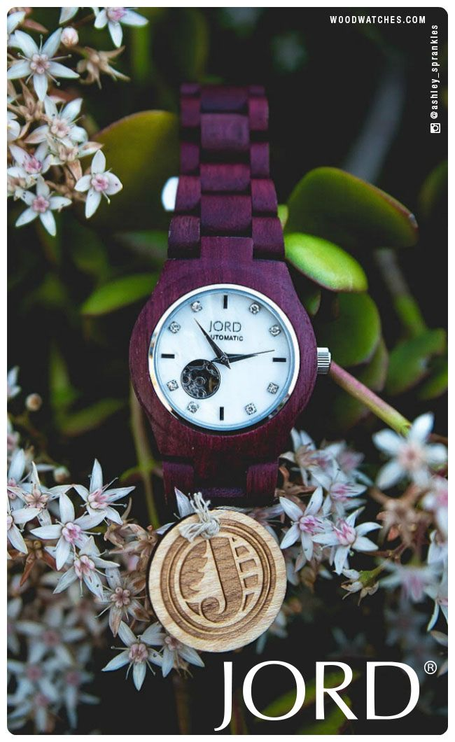 Sophisticated style, soft edges. Enjoy the natural feel of our wood watch Cora series in gorgeously toned Purpleheart wood with a mother-of-pearl face, accented with genuine Swarovski crystals.  Available today at www.woodwatches.com, free shipping in the U.S.!