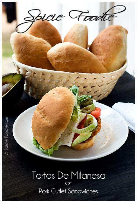 Tortas de Milanesa or Pork Cutlet Sandwiches