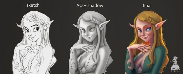 The Art of DAVID ADHINARYA LOJAYA: How to Paint Ambient Occlusion for Digital Painting