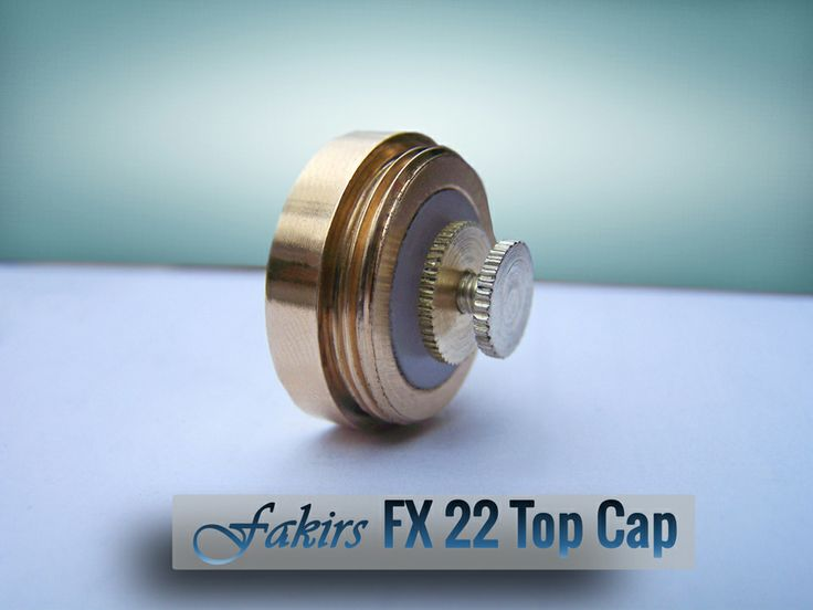 Fakirs FX 22 Top Cap Made by bronze 20*1 threads silver plated brass pins. Compatible with other 20*1 threaded mod's. 19 in stock now. $25 + $10 worldwide shipping! #vaper #vapors #ecigs #smoking #vapes #vape #vapelife #vapecommunity #vaping #ejuice #eliquid #ecig https://www.facebook.com/fakirs.mods https://twitter.com/FakirsMods