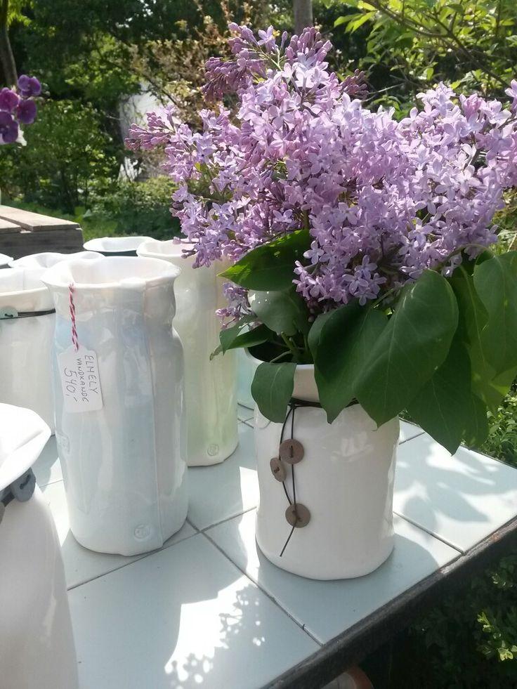 Vandkaraffel KR. 540,- og Holbæk-vase årgang 2014 KR. 550,- #Keramik&Vintagemøbler