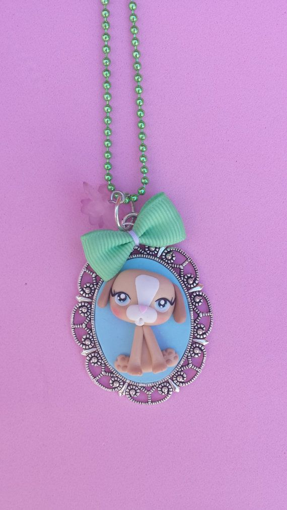dog polymer clay necklace fimo by Artmary2 on Etsy, €12.00