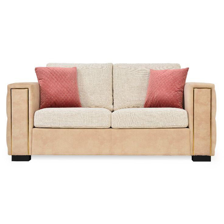 Mobexpert canapea stofa, 2 locuri, 2 perne decor  Desiree