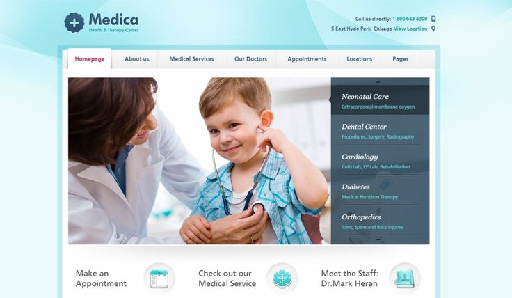 Medical WordPress Theme Medica