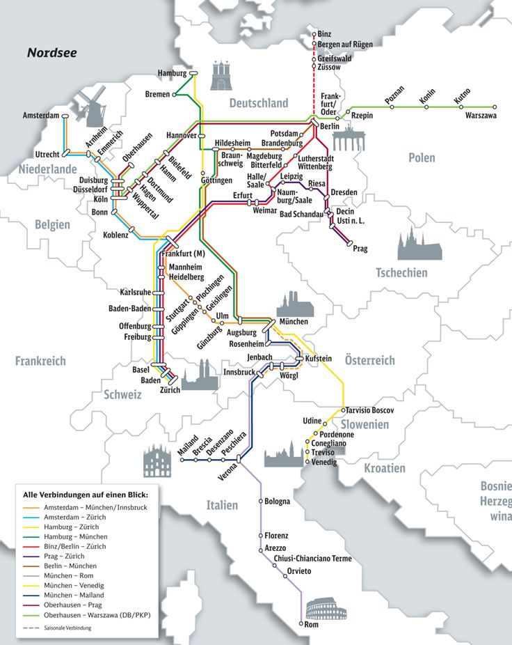 City Night Line - Overnight train travel to/from Germany and European cities (Rome, Venice, Milan, Zurich, Innsbruck, Munich, Zurich, Frankfurt, Hamburg, Berlin, Paris, Amsterdam, Warsaw, Prague)