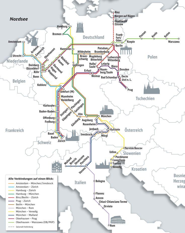 City Night Line - Overnight train travel to/from Germany and European cities (Rome, Venice, Milan, Zurich, Innsbruck, Munich, Zurich, Frankfurt, Hamburg, Berlin, Paris, Amsterdam, Warsaw, Prague)