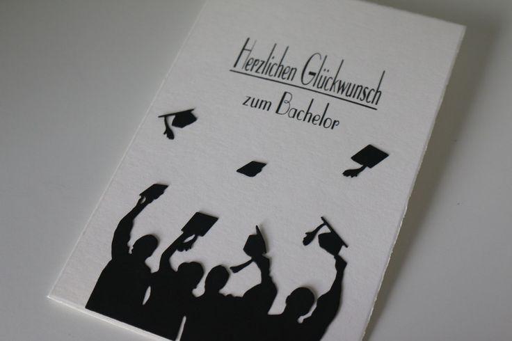 Glückwünsche - Glückwunschkarte zum Bachelor Abschluss /Prüfung - ein Designerstück von Art-Card bei DaWanda