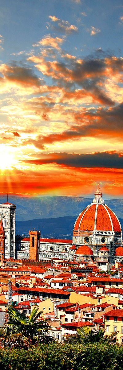 """Florence ITALY ♦♦♦ Florence was a centre of medieval European trade and finance and one of the wealthiest cities of the time. It is considered the birthplace of the Renaissance, and has been called """"the Athens of the Middle Ages"""". A turbulent political history includes periods of rule by the powerful Medici family, and numerous religious and republican revolutions. From 1865 to 1871 the city was the capital of the recently established Kingdom of Italy."""