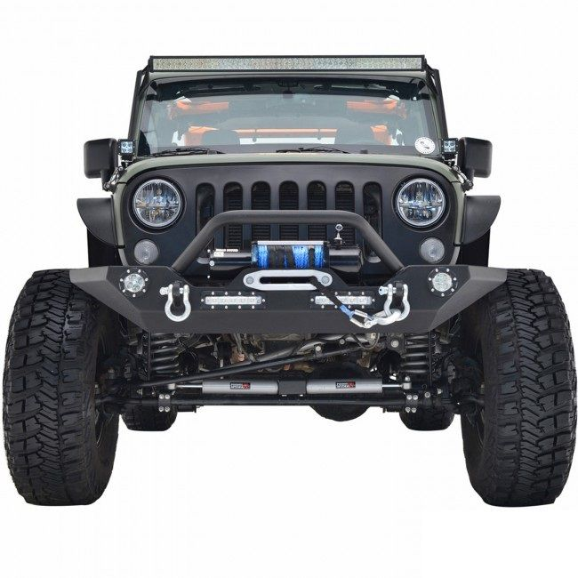 Picture Of A Jw0272 Style Steel Front Winch Bull Bar With Led Lights Jeep Wrangler Front Bumper Jeep Bumpers Best Jeep Wrangler