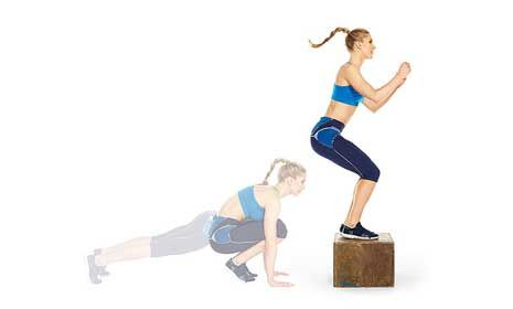 """Plyo Box Workout - A total-body box circuit that incinerates fat faster than you can say, """"hello, summer!"""""""