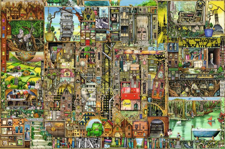 Colin Thompson's Bizarre Town, 5000pc | Puzzles | NEW | Products | UK | ravensburger.com