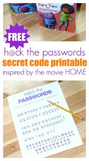 "FREE printable inspired by the movie HOME. Perfect for birthday parties or family movie night. My ""big kid"" ( he's 8) LOVED this and I loved that he got some handwriting practice too!"