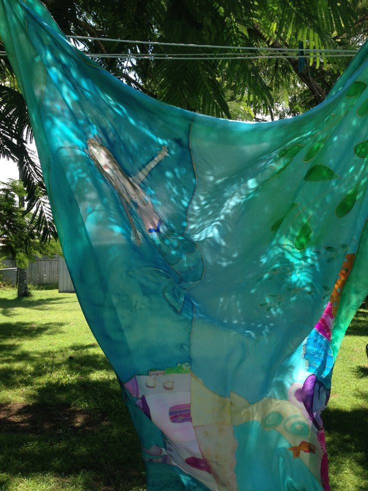 Mermaids fluttering in the breeze at The Silk Maids