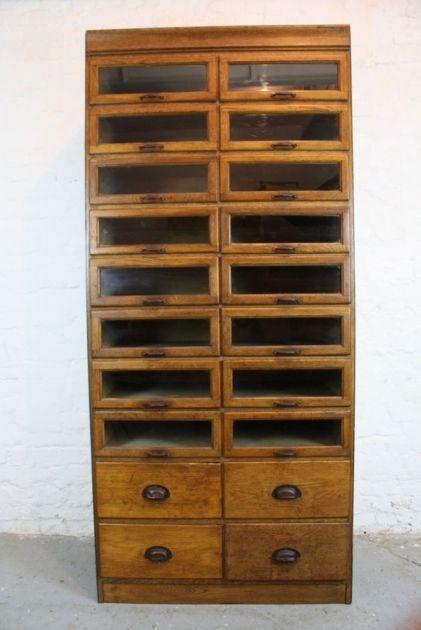 Vintage oak 1920/30s 20 drawer haberdashery cabinet - Lovely and Company