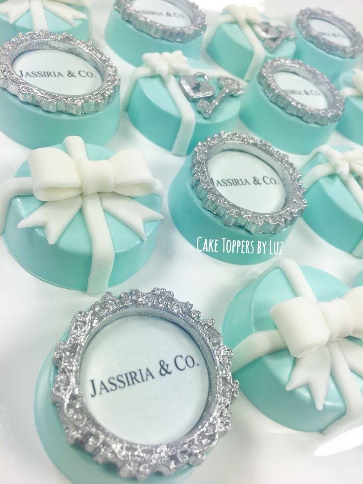 Tiffany and Co Inspired Chocolate Covered Oreos Party Favors
