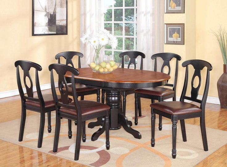 Modren Black Kitchen Table And Chairs Paint She Used Intended - Big lots kitchen table sets