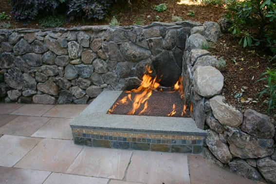 Corner Fire Hearth Outside Fireplace Outdoor Crafts