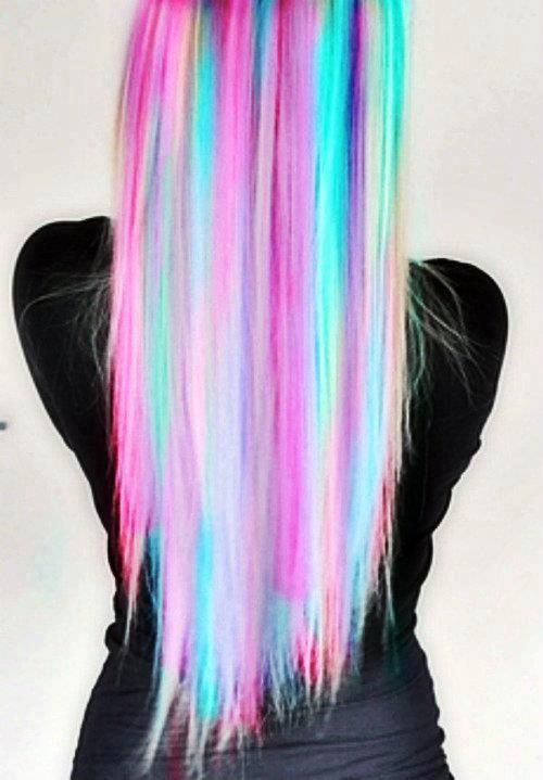 rainbow hair! (Okay, I would never, EVER, do this, even if I had the guts; but it is certainly very pretty when done correctly!