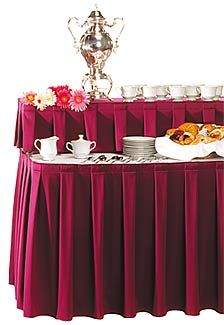 Box Pleats Table Skirt Party And Wedding Polyester Skirting
