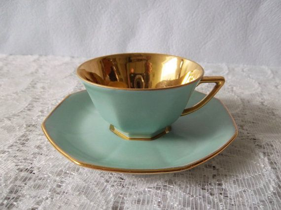 French Vintage Espresso Cup Coffee Cup And Saucer By HatteDesign