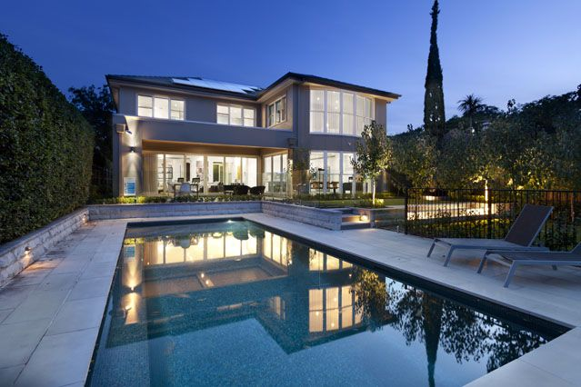 Hunter's Hill Chateau Home #luxury #mansion #pool