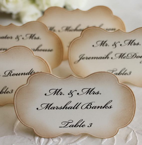 Wedding Escort Cards  Wedding Place Cards  by teatimeandroses, $2.50