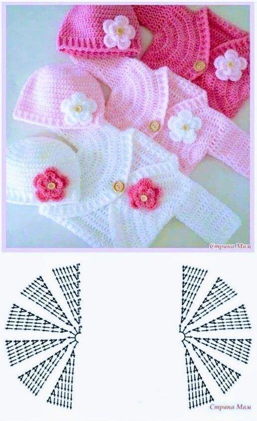 Knitting PATTERN Baby Jacket Crochet PATTERN Baby Dress Baby Cardigan Baby Girl … – crochet baby clothes