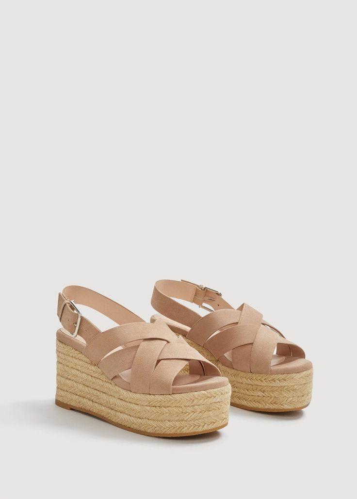 Sandalia Piel Plataforma Mujer In 2020 Leather Sandals