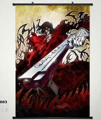 Home Decor Japanese Anime Wall poster Scroll Hellsing Alucard Cosplay Art 003 #Affiliate