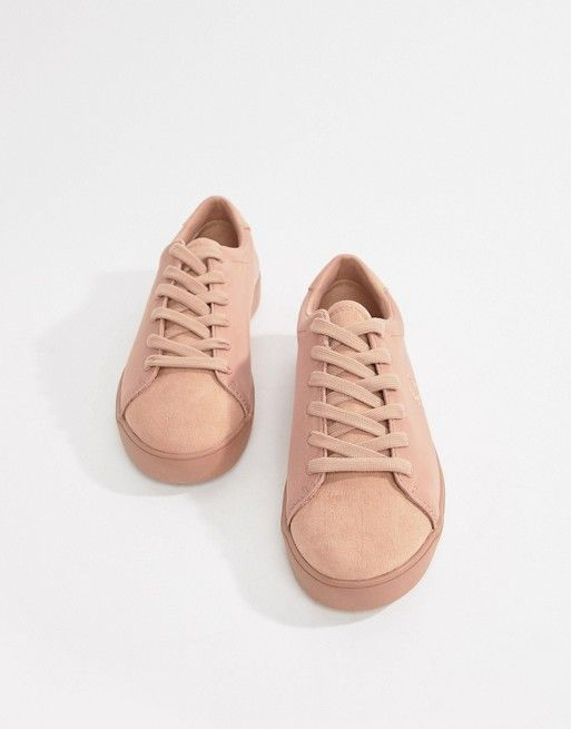b0d5cae5a5102 Fred Perry lottie pink sneaker with suede toe cap | Style | Pink ...