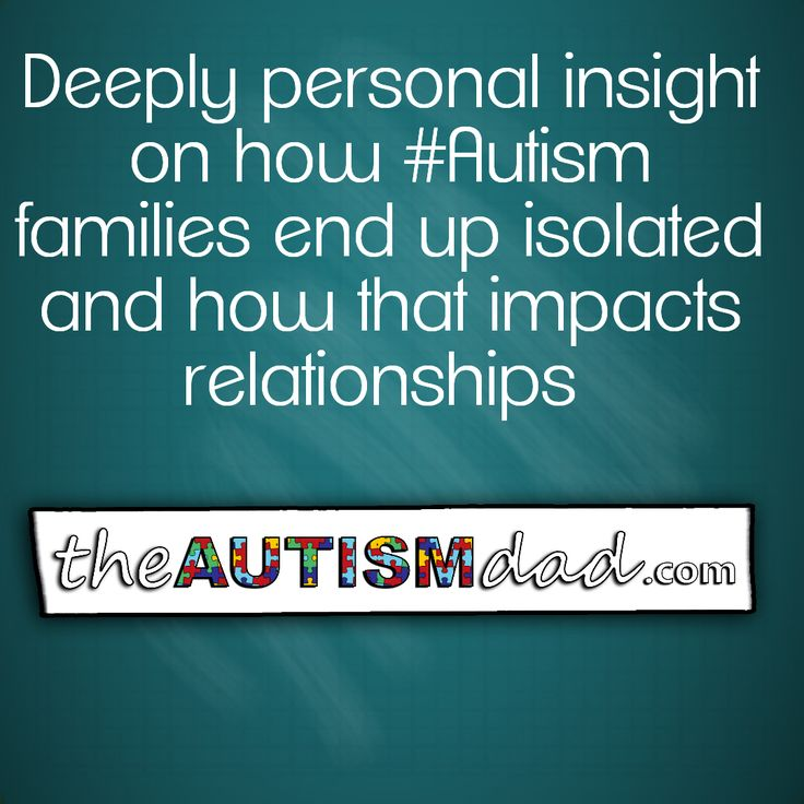 Deeply personal insight on how #Autism families end up isolated  http://www.theautismdad.com/2016/05/30/deeply-personal-insight-on-how-autism-families-end-up-isolated-and-how-that-impacts-relationships/