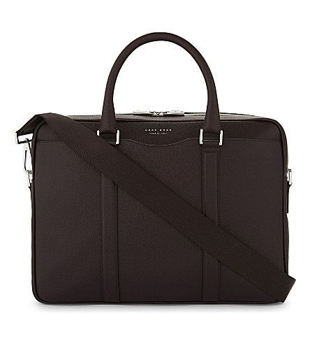 BOSS - Signature leather briefcase | Selfridges.com