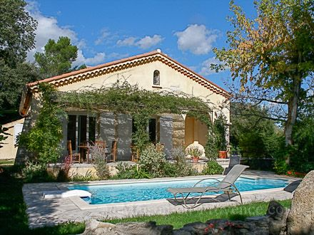 Holiday Detached villa, private pool, in the hills above village, in Sauveterre, Gard, South of France, holiday rental #670 from Maison en Provence ™