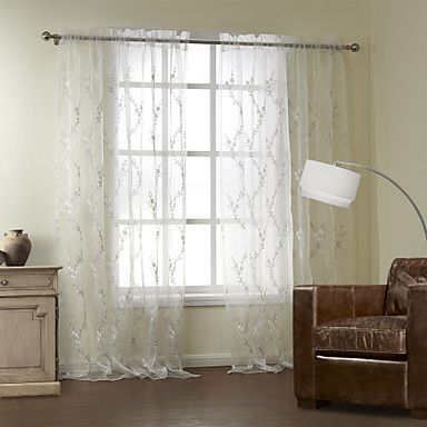 One pair plum blossom embroidery sheer curtain usd 79 99