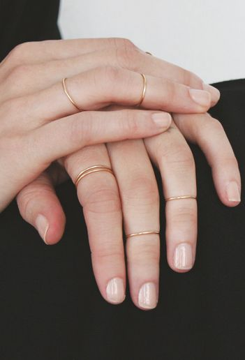 Simple gold, golden, rings.