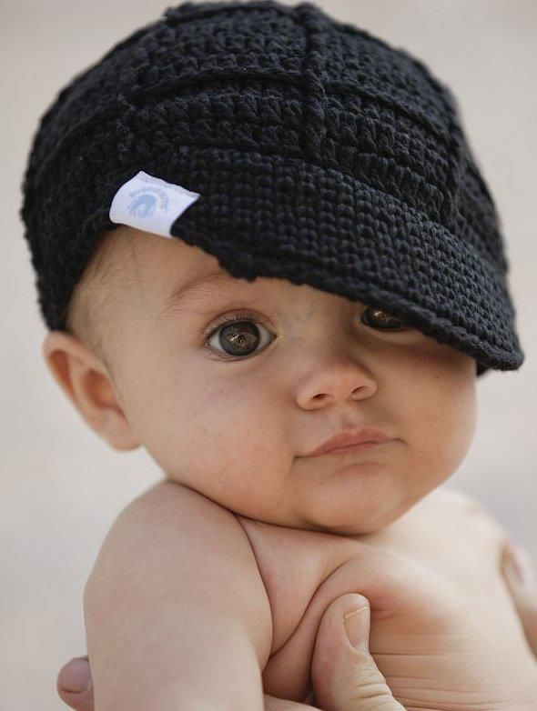 crocheted beanies black, grey or brown- baby to toddler @find us on Facebook --Zandy Zoos