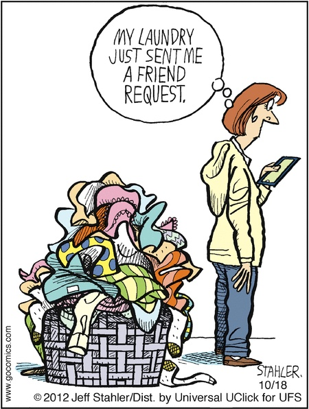 """""""Moderately Confused"""" by Jeff Stahler ~ I hate it when that happens."""