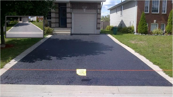 A My Property Professional Driveway Seal, Ottawa, Ontario. After a de-weeding, professional cleaning and application of commercial grade asphalt sealer this driveway looks brand new! http://mypropertyinc.com/Driveway-sealing/