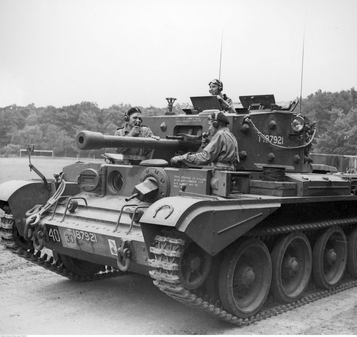 VII Cromwell tank squadron a staff in anticipation of the march