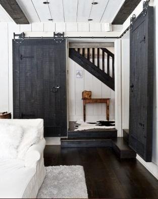 want barn doorsThe Doors, Sliding Barns Doors, Black Doors, Black And White, Interiors Barns Doors, Sliding Barn Doors, Black White, House, Sliding Doors