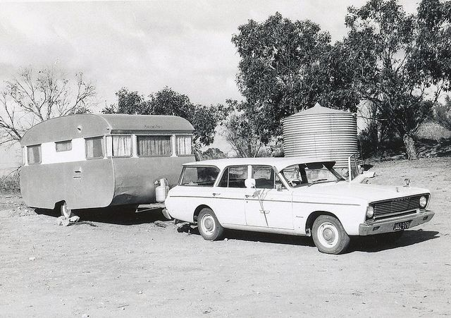Caravan Holiday South Australia 1960s by Yvonne Thompson, via Flickr