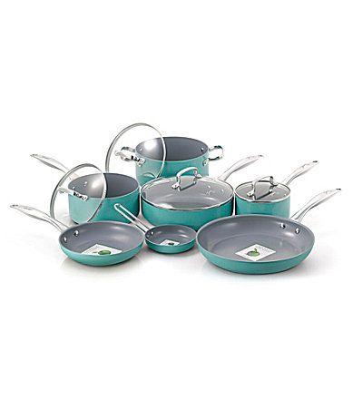 Fiesta Turquoise 11Piece Ceramic Cookware Set #Dillards