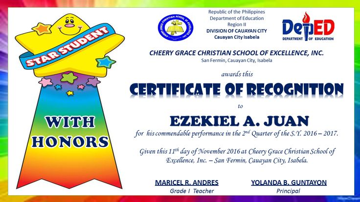 Pin by Aaron Aaron on DepEd Teachers Lesson Plans, Display Boards - examples of certificates of recognition