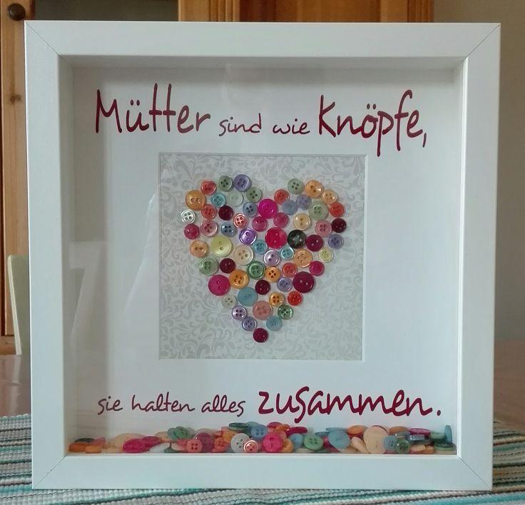 Mütter sind wie Knöpfe, Muttertag, Herz, Ribba, …