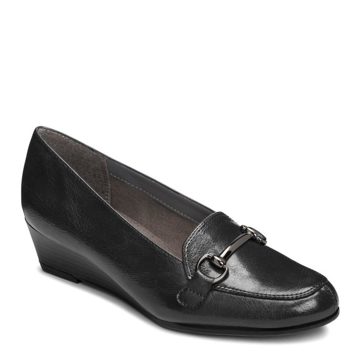 A2 by Aerosoles Women's Love Spell Medium/Wide Wedge Loafers (Black)
