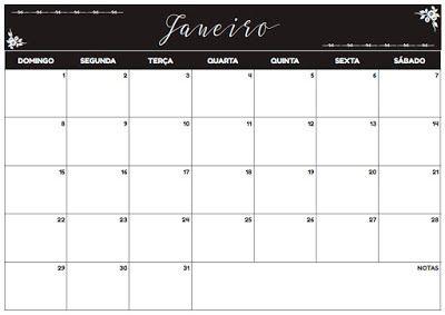 FREE - Planner Mensal JAN a DEZ 2017 #printable #paper #planner