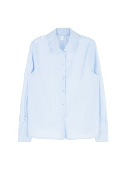 Wavy Collar Button-Down Shirt | MIX X MIX | Shop Korean fashion casual style clothing, bag, shoes, acc and jewelry for all
