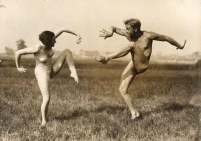 Gerhard Riebicke: Couple Performing German Dance, ca. 1930