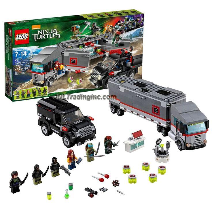 Lego Ninja Turtles Series Set #79116 - BIG RIG SNOW GETAWAY w/ Truck, SUV Plus April O'Neil, Raphael, Leonardo, Karai & 2 Foot Soldier (Piece: 743)