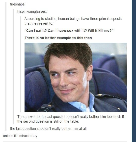 Actually, both Captain Jack Harkness and Dean Winchester from SPN have that in common, now that I think about it.